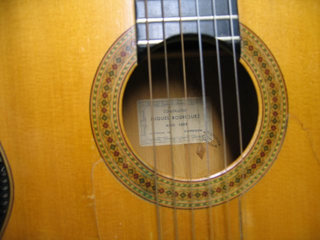 Rosette of 1959 Miguel Rodriguez Flamenco Guitar